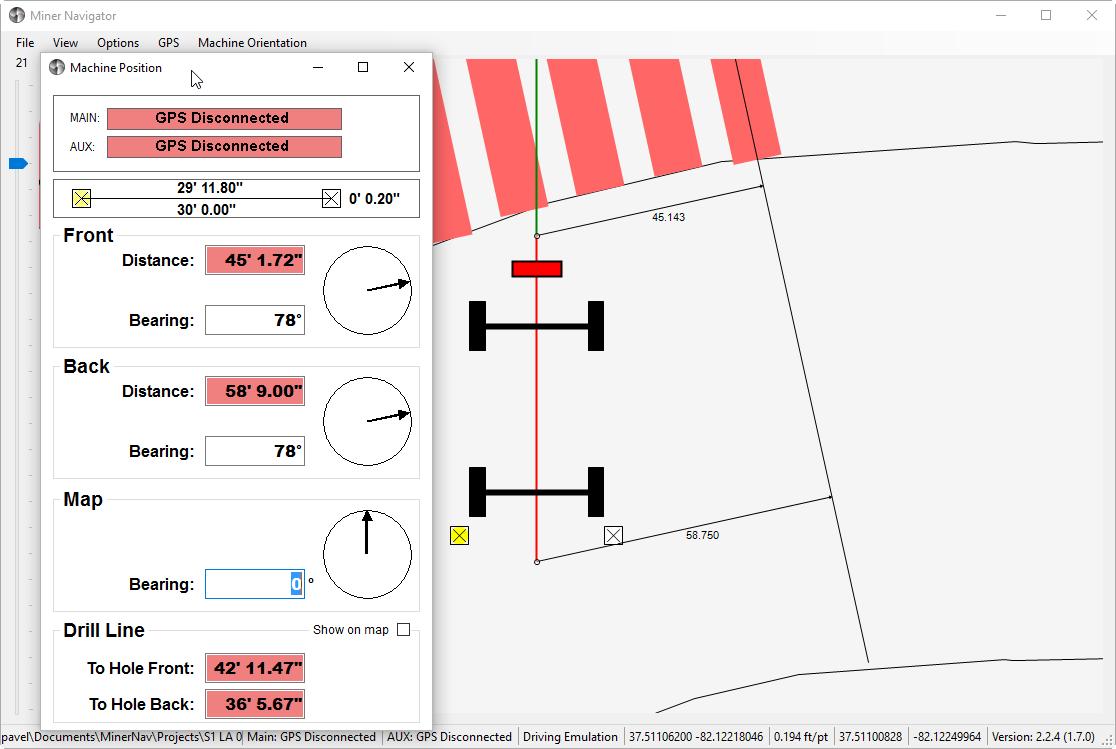 Minernav highwall miner navigator visual studio c xml dxf autocad gmap user controls dataset serial communication nmea ccuart Images
